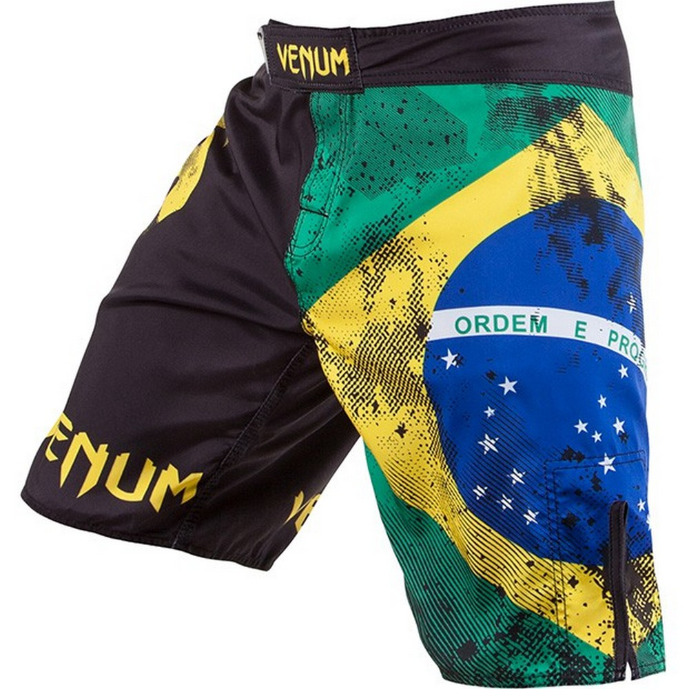 Шорты Venum Brazilian Flag Fightshorts (Black)